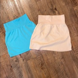 Bundle of 2 American Apparel mini skirts!